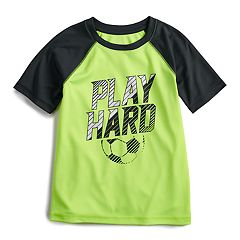 Boys 4-12 Jumping Beans® Hi-Low Soccer 'Play Hard' Raglan Active Tee
