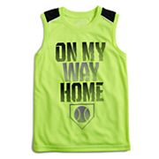 """Boys 4-12 Jumping Beans® """"On My Way Home"""" Baseball Pieced Active Muscle Tee"""