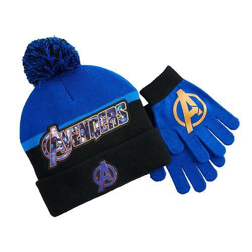 Boy's Marvel Avengers Hat & Gloves Set