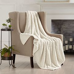 Sherpa Knitted Plush Solid Throw