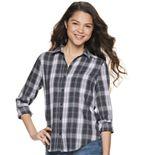 Juniors' SO® Button Down Shirt