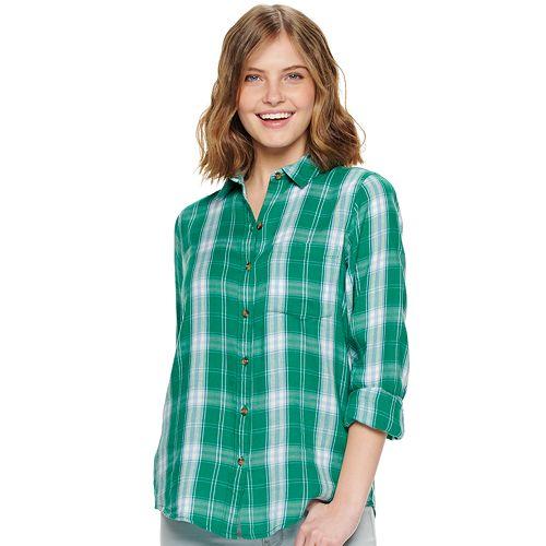 38f9ecc3f Juniors' SO® Button Down Front Shirt
