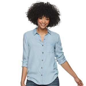 Juniors' SO® Button Down Shirt