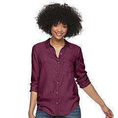 c53d66225 Juniors Purple Button-Down Shirts Tops, Clothing | Kohl's