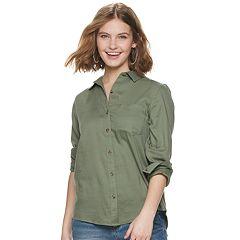 ca7ac2c08 Juniors Green Button-Down Shirts Tops, Clothing | Kohl's