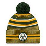 Men's Green Bay Packers On Field Home Knit Pom Beanie