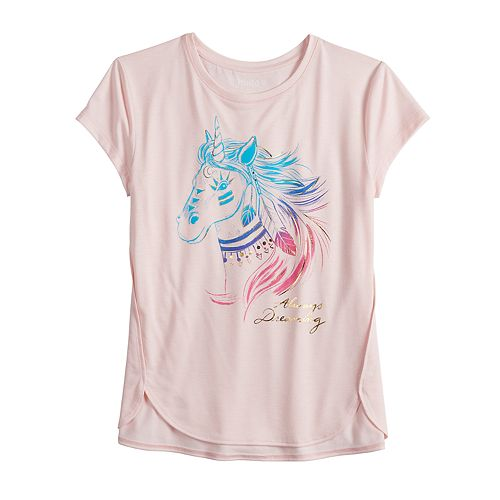 Girls 7-16 & Plus Size Mudd® Foil Graphic Tee