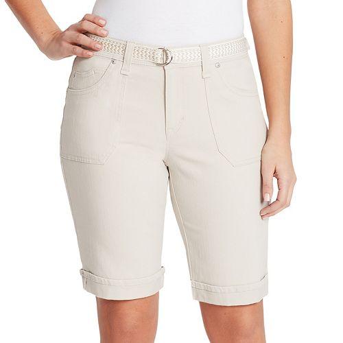 Women's Gloria Vanderbilt Mia Belted Bermuda Jean Shorts