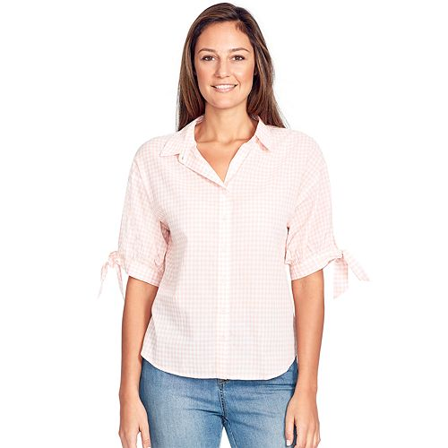 Women's Gloria Vanderbilt Valentina Tie Elbow Sleeve Shirt