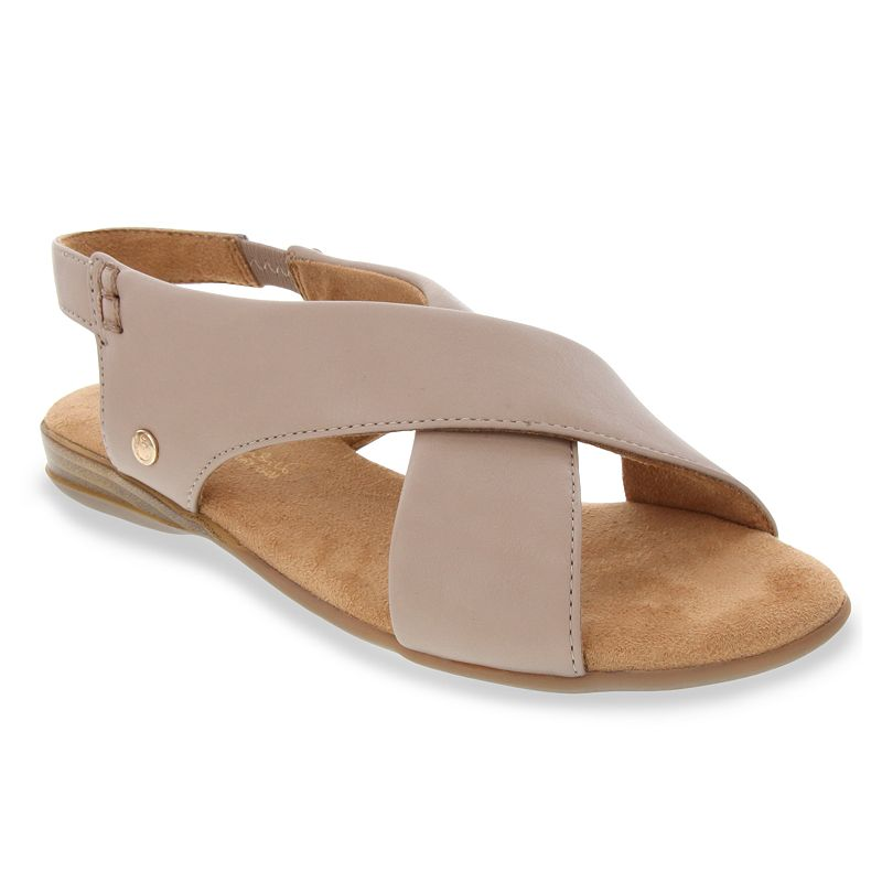 Add a comfortable and breezy accent with these Gloria Vanderbilt Jacey criss-cross flat sandals. Add a comfortable and breezy accent with these Gloria Vanderbilt Jacey criss-cross flat sandals. SHOE FEATURES Allover criss-cross strappy design Memory foam footbed fot comfortSHOE CONSTRUCTION Polyurethane, textile upper Manmade lining Foam midsole TPR, manmade outsoleSHOE DETAILS Open toe Slip-on Foam footbed Spot clean Size: 11. Color: Brown. Gender: female. Age Group: adult.