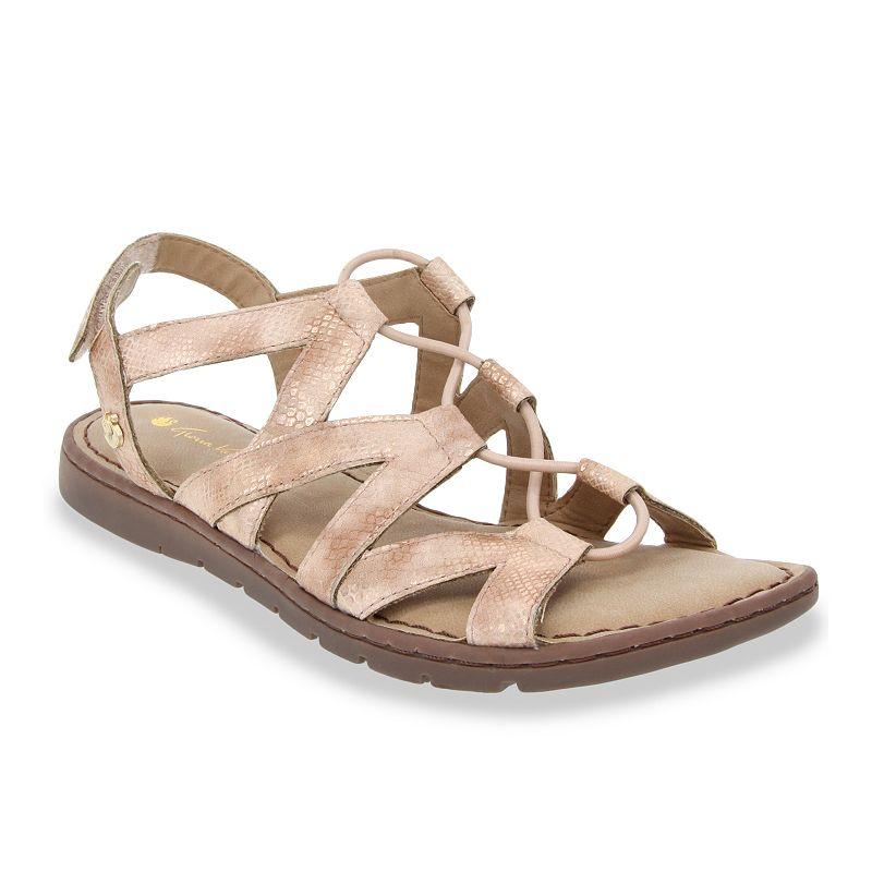 Feel the comfort with each step in these Gloria Vanderbilt Vida flat sandals. Feel the comfort with each step in these Gloria Vanderbilt Vida flat sandals. SHOE FEATURES Strappy design & durable traction sole Memory foam footbed for comfortSHOE CONSTRUCTION Fabric, textile upper Manmade lining Foam midsole TPR, manmade outsoleSHOE DETAILS Open toe Hook and loop closure Foam footbed Spot clean Size: 11. Color: Pink. Gender: female. Age Group: adult.