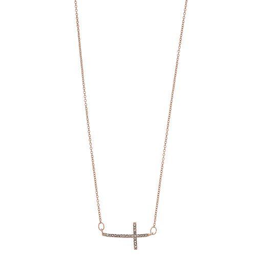 Women's LC Lauren Conrad Pave Cross Pendant Necklace