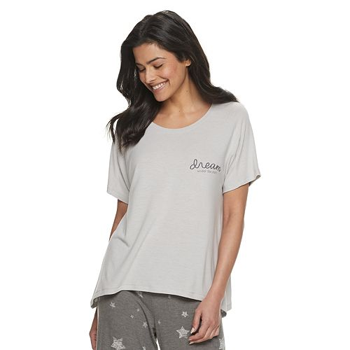 Women's SONOMA Goods for Life™ Sharkbite Hem Sleep Tee