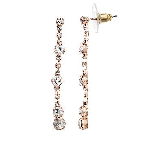 Women's LC Lauren Conrad Linear Crystal Drop Earrings