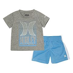 02224ba06 Baby Boy Hurley Graphic Tee & Shorts Set. Deep Royal University Blue