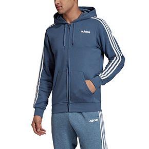 Big & Tall adidas Essential 3-Stripe Cotton Full Zip Fleece
