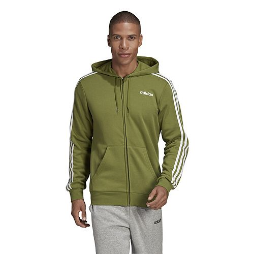 Big & Tall adidas Essential 3-Stripe Cotton Full Zip Fleece