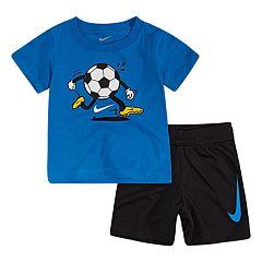 Baby Boy Nike Sports Logo Tee & Shorts Set