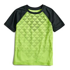 Boys 4-12 Jumping Beans® Hi-Low Geometric Triangles Raglan Active Tee