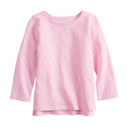 Baby Girl Jumping Beans® Slubbed High-Low Hem Tee