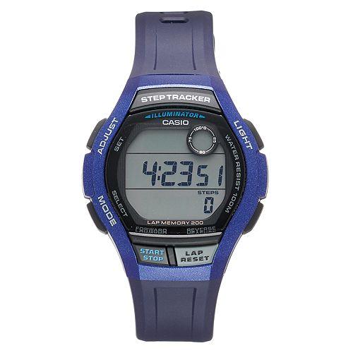 Casio Men's Digital Runner Step Tracker & 200 Lap Memory Watch - WS2000H2AVOS