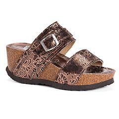 8d41c5da001de2 MUK LUKS Women's Emery Wedge Sandals