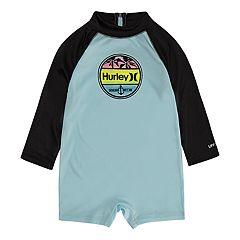 Baby Boy Hurley Raglan One Piece Rash Guard