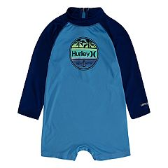 bed3286d0 Baby Boy Hurley Raglan One Piece Rash Guard. University Blue Topaz Mist
