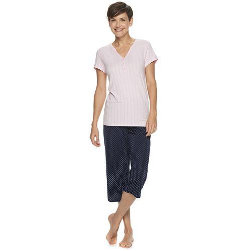 Women's Croft & Barrow® Sleep Tee & Pajama Capri Set
