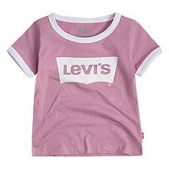 844808c5f61 Toddler Girl Levi's® Batwing Logo Ringer Tee