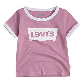 Toddler Girl Levi's® Batwing Logo Ringer Tee