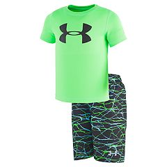 Boys 4-7 Under Armour Voltage Logo Rash Guard Top & Swim Trunks Set