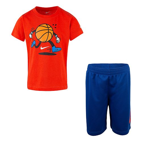 Boys 4-7 Nike Sports Graphic Tee & Shorts Set