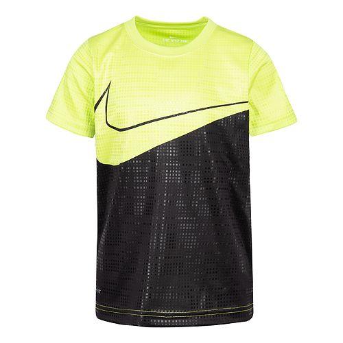 Boys 4-7 Nike Colorblock Logo Dri-FIT Graphic Tee