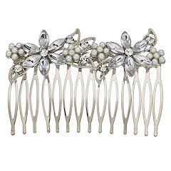 Bridal Hair Comb with Gemstones