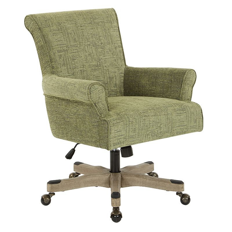 OSP Home Furnishings Megan Office Chair, Green