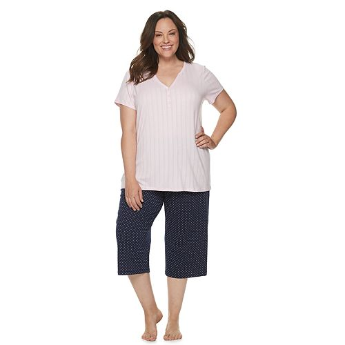 Plus Size Croft & Barrow® Sleep Tee & Pajama Capri Set