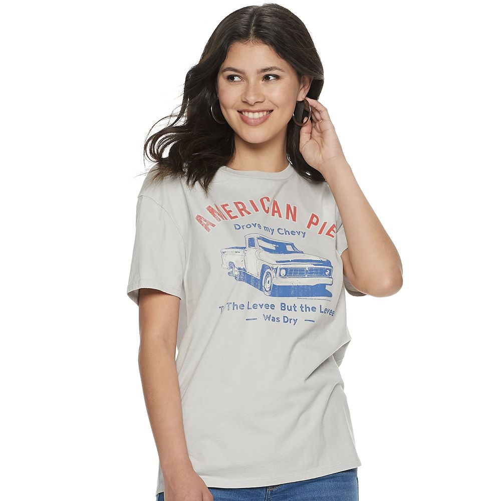 Juniors' American Pie Short Sleeve Crew Neck Americana Tee
