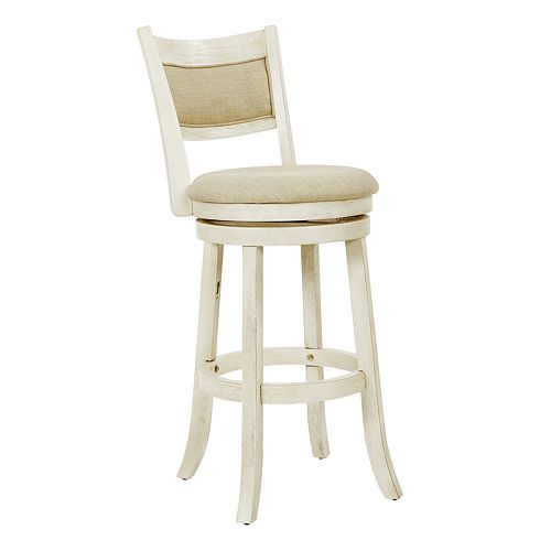 Office Star Products Swivel Stool with Solid Back