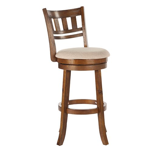 Office Star Products Swivel Stool with Slatted Back