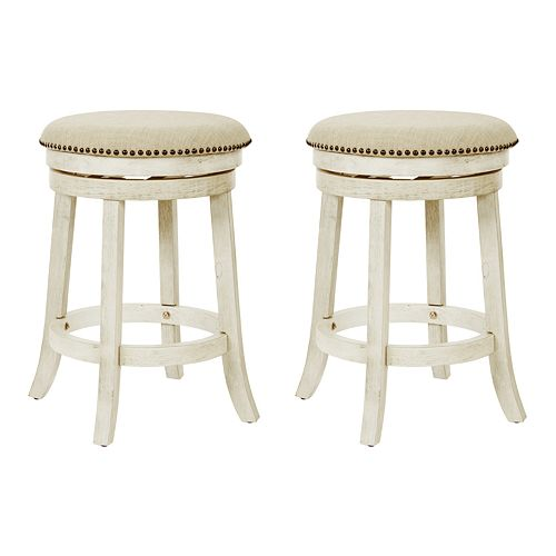 Office Star Products 2-Pack Backless Swivel Stool