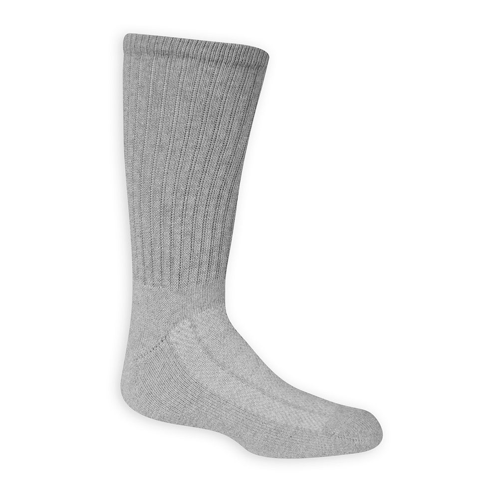 Boys 8-20 Fruit of the Loom 6-Pack Breathable Crew Socks
