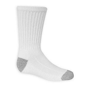 Boys 8-20 Fruit of the Loom 6-Pack Breathable Crew Socks