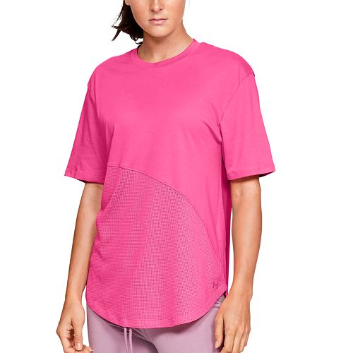 Women's Under Armour Lighter Longer Mesh Crew Tee