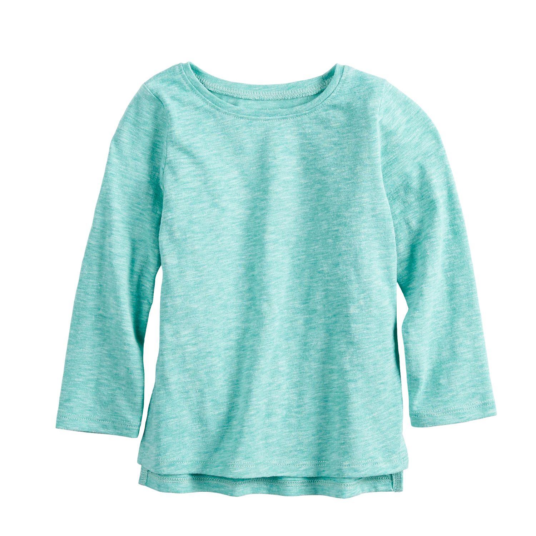 girls blue kids long sleeve tops, clothing kohl\u0027sgirls 4 12 sonoma goods for life™ slubbed tee