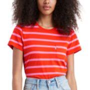 NEW! Women's Levi's® The Perfect Crew Striped Tee