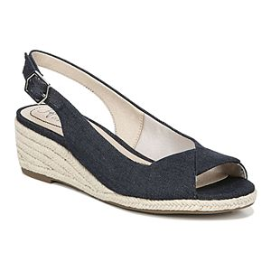 553e1bf3833 Womens Gloria Vanderbilt Franklin Open Toe Espadrille Wedge