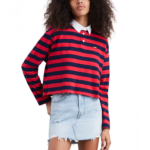 Women's Levi's® Striped Rugby Crop Polo