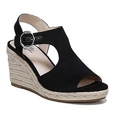 0057afdeed8b15 LifeStride Tersa Women's Wedge Sandals. Greige Black Fuchsia
