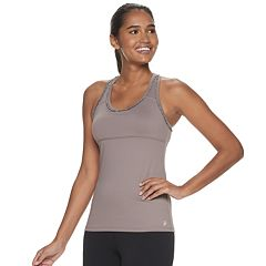 5400257ec681 Women's FILA SPORT® Mini Ruffle Tank Top with Built-In Bra